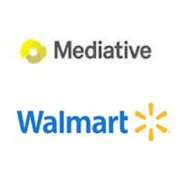 Logos de Mediative et Walmart