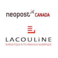 Logos de Neopost Canada et Bureatique Lacouline