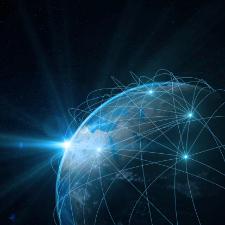 Illustration de réseaux sur la planète