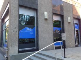 Le «Surface Café» créé le temps d'une journée par MIcrosoft à Montréal