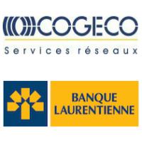 Logos de Cogeco Services Réseaux et de Banque Laurentienne