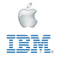 Logos d'IBM et Apple