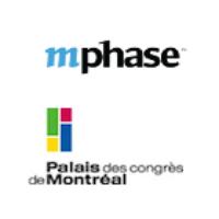 Logos de mPhase et du Palais des congrès de Montréal
