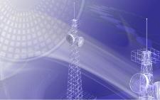 Illustration du concept de spectre d'ondes, de réseau sans fil