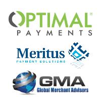 Logos de Paiement Optimal, Meritus et Global Merchant Advisors