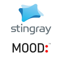 Logos de Stingray Digital et Mood Media Corporation