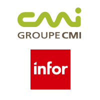 Logos de Groupe CMI et INFOR