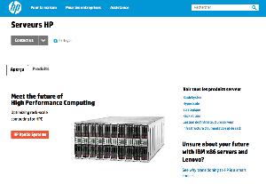 Capture d'écran du site de HP Canada