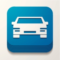 Illustration du concept d'application mobile pour le transport automobile
