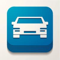 Illustration du concept d'application mobile pour le transport automobile