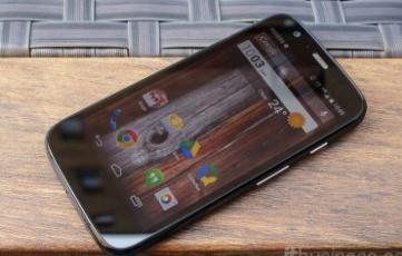 Le téléphone intelligent Moto G de Motorola Mobility