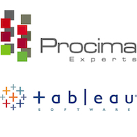 Logos de Procima Experts et Tableau Software