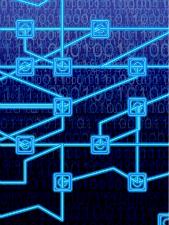 Illustration du concept de réseau conçu par logiciel