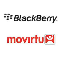 Logos de BlackBerry et Movirtu