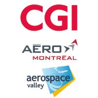 Logos de CGI, Aéro Montréal et Aerospace Valley