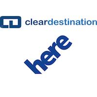 Logos de Clear Destination et HERE