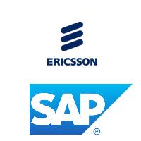 Logos d'Ericsson et SAP