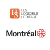 Logos de Logiciel Heritage et de la Ville de Montréal
