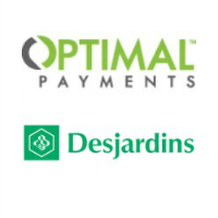 Logos de Paiements Optimal et Desjardins