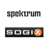 Logos de Spektrum Média et Sogix