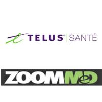 Logos de TELUS santé et Zoommed