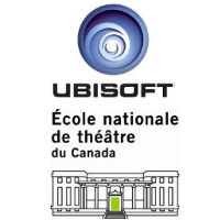 Logos d'Ubisoft et de l'École nationale de théâtre du Canada