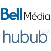 Logos de Bell Média et Hubub