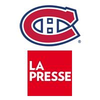 Logos du Club de hockey Canadien et de La Presse