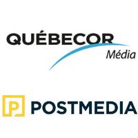 Logos de Québecor Médias et de Postmedia