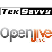 Logos de Teksavvy et Openjive