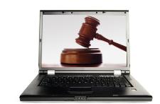 Illustration du concept de cyberjustice