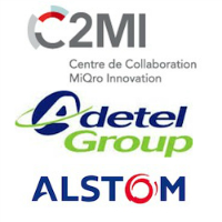 Logos de C2MI, Adetel Group et Alstom