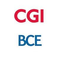Logos de CGI et de BCE