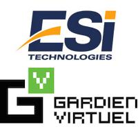 Logos d'ESI Technologies et de Gardien Virtuel