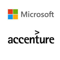 Logos de Microsoft et Accenture