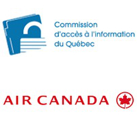 Logos d'Air Canada et de la Commission d'accès à l'information