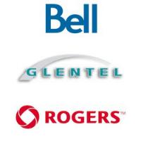 Logos de Bell, Rogers et Glentel