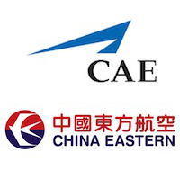 Logos de CAE et China Eastern Airlines