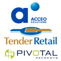 Logos d'Acceo Solutions, Tender Retail et Pivotal Payments