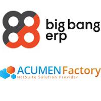 Logos de Big Bang ERP et Acumen