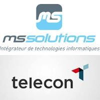 Logos de MS Solutions et Telecon