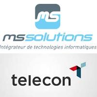 Logos de MS Solutions et Telecon