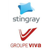 Logos de Stingray Digital et Groupe Viva