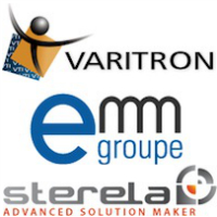 Logos de Varitron, EMM et Sterela