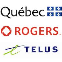 Québec, Rogers et Telus
