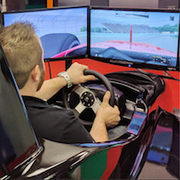 D-Box, course automobile, simulateur