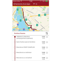Chrono, une application pour le transport collectif