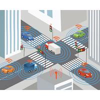 véhicule connecté, réseau routier, transport