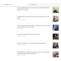 Google, Donald Trump